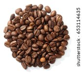 Coffee Bean In White Background
