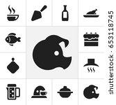 set of 12 editable food icons....