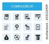 set of 12 editable financial...