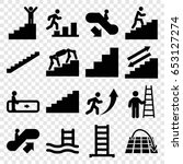 staircase icons set. set of 16... | Shutterstock .eps vector #653127274