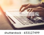 searching browsing internet... | Shutterstock . vector #653127499