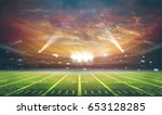 american football stadium 3d... | Shutterstock . vector #653128285
