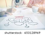 cloud computing concept. | Shutterstock . vector #653128969