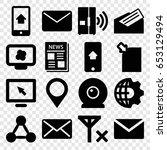 communication icons set. set of ...   Shutterstock .eps vector #653129494