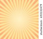 abstract yellow orange rays...   Shutterstock .eps vector #653132479