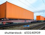 transportation of cargoes by... | Shutterstock . vector #653140939