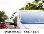 front glass of modern vehicle. | Shutterstock . vector #653141371