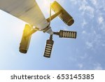 close circuit camera. the close ... | Shutterstock . vector #653145385