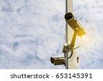 close circuit camera. the close ... | Shutterstock . vector #653145391