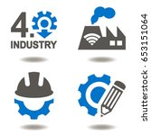 industry 4.0 vector icon set.... | Shutterstock .eps vector #653151064