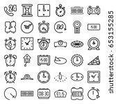 hour icons set. set of 36 hour... | Shutterstock .eps vector #653155285