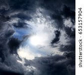 blurred swirl in the dark storm ... | Shutterstock . vector #653157904