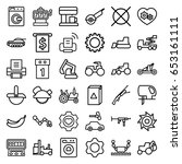 machine icons set. set of 36... | Shutterstock .eps vector #653161111