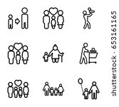 father icons set. set of 9... | Shutterstock .eps vector #653161165