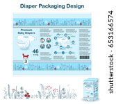 diaper packaging design... | Shutterstock .eps vector #653166574