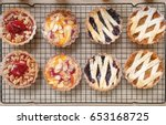 tart top view. from left to... | Shutterstock . vector #653168725