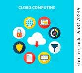 concept cloud computing. vector ... | Shutterstock .eps vector #653170249