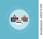online shopping  e commerce ... | Shutterstock .eps vector #653171194