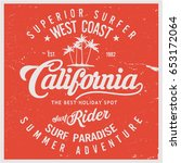 vintage surfing graphics and... | Shutterstock .eps vector #653172064