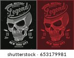 vintage biker graphics and... | Shutterstock .eps vector #653179981