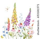 watercolor banner with... | Shutterstock . vector #653181571