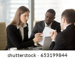 angry dissatisfied... | Shutterstock . vector #653199844