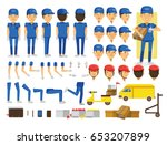 delivery man character creation ... | Shutterstock .eps vector #653207899