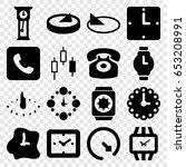 dial icons set. set of 16 dial... | Shutterstock .eps vector #653208991