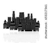 big black city vector | Shutterstock .eps vector #653217361