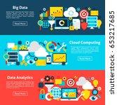 big data horizontal banners.... | Shutterstock .eps vector #653217685