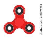 fidget spinner isolated on... | Shutterstock .eps vector #653221981