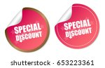 special discount stickers | Shutterstock .eps vector #653223361