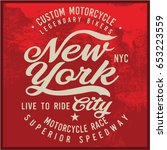 vintage biker graphics and... | Shutterstock .eps vector #653223559