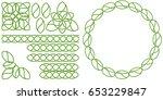 vector image celtic set of...   Shutterstock .eps vector #653229847