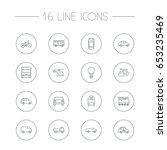 set of 16 shipping outline... | Shutterstock .eps vector #653235469