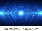 abstract technology concept.... | Shutterstock .eps vector #653237389