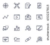 set of 16 engine outline icons... | Shutterstock .eps vector #653237815