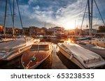 port bardolino on lake garda    Shutterstock . vector #653238535