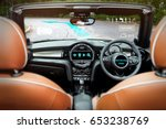 smart car  hud  and augmented... | Shutterstock . vector #653238769