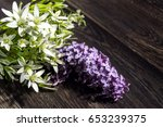 beautiful bouquet with lilac...   Shutterstock . vector #653239375