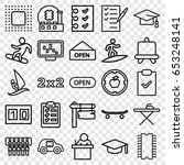 board icons set. set of 25... | Shutterstock .eps vector #653248141