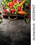 market. healthy vegan food.... | Shutterstock . vector #653250427