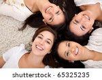 group of women lying on the...   Shutterstock . vector #65325235