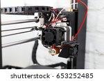 3d printer close up  3d print... | Shutterstock . vector #653252485