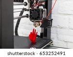 modern 3d printer printing... | Shutterstock . vector #653252491