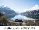 innvikfjorden fjord in south... | Shutterstock . vector #653253109