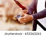 picture of fisherman  | Shutterstock . vector #653263261