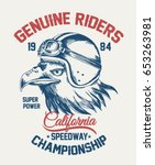 motorcycle typography with... | Shutterstock .eps vector #653263981