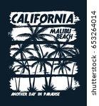 california vector illustration... | Shutterstock .eps vector #653264014