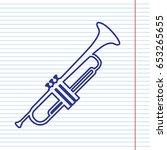 musical instrument trumpet sign.... | Shutterstock .eps vector #653265655